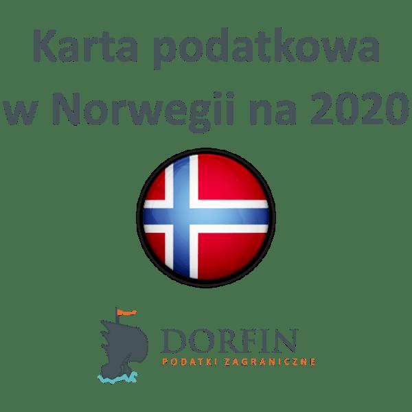 karta podatkowa w Norwegii na 2020 rok.